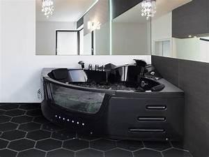 Whirlpool Badewanne Düsen Reinigen : whirlpool badewanne mallorca schwarz 12 massage d sen glas led massage g nstig supply24 ~ Indierocktalk.com Haus und Dekorationen