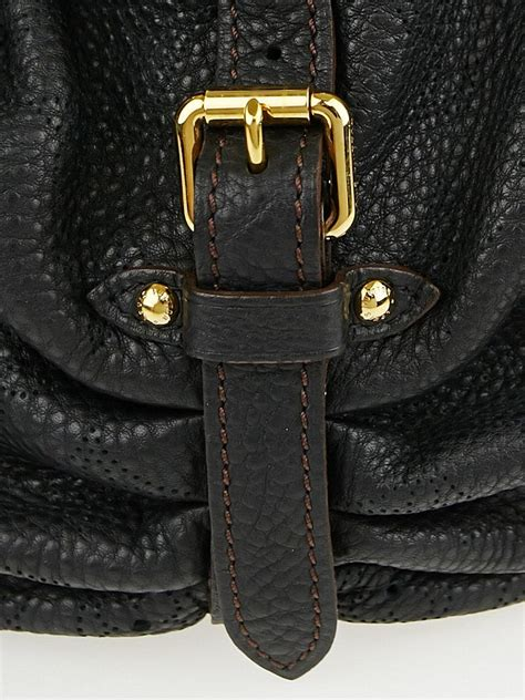 louis vuitton black monogram mahina leather xs bag yoogi