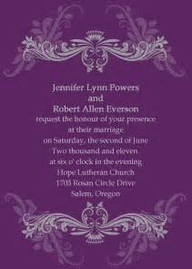 customizable wedding invitations vintage purple damask custom wedding invitation cards ewi047 as low as 0 94