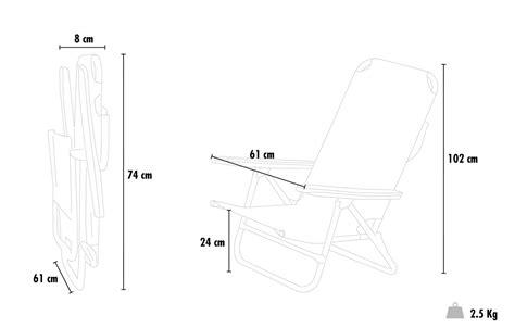 si鑒e de plage pliant chaise transat de plage pliante avec accoudoirs mer aluminium gargano