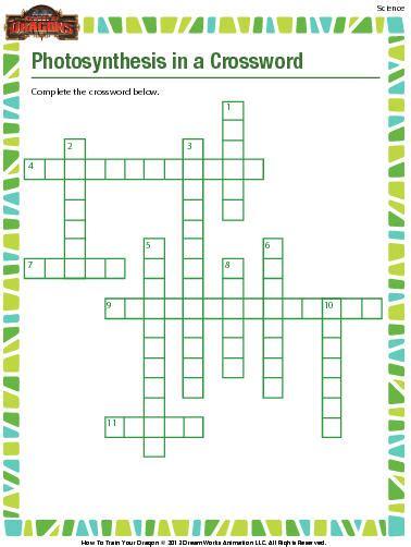 photosynthesis crossword worksheet  education