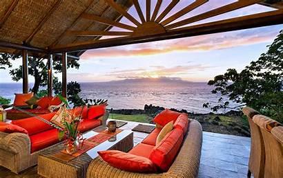 Beach Luxury Fiji Wallpapers Villa Living Desktop