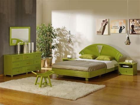 chambre verte chambre vert et marron