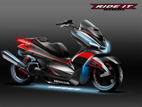 honda pcx custom    production concept design