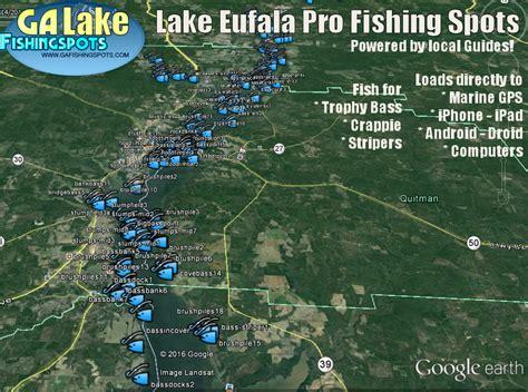Lake Eufaula Fishing Map