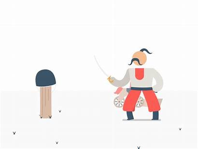 Cossack Training Animation Gifs Dribbble Animated Character