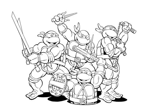 Rise Of The Teenage Mutant Ninja Turtles Free Coloring Pages