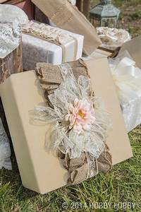 94 best images about burlap and lace on pinterest for Wedding gift wrapping ideas
