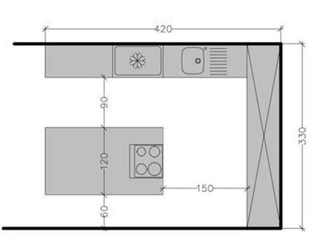 plan cuisine en l avec ilot plan de cuisine avec ilot cuisine en image