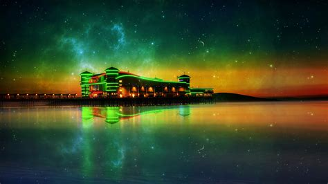 full hd wallpaper weston super mare neon illumination