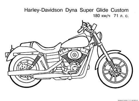 motorcycle coloring page letscoloringpagescom