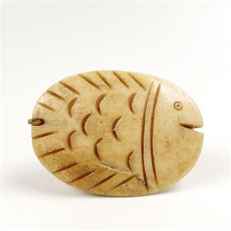 jan michaels carved bone fish ring talich