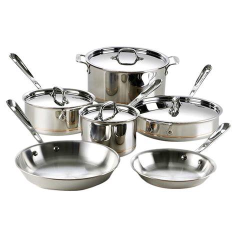 clad copper core  piece aluminum  stick cookware set reviews wayfair