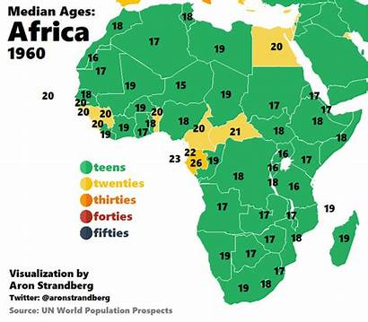 Africa Map Median Age Vergrijzing Afrika Animated