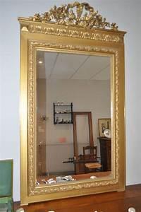 Miroir Doré Ancien : miroir trumeau ancien style louis xvi cadre en stuc dore epoque fin 19 me glace la maison de ~ Teatrodelosmanantiales.com Idées de Décoration