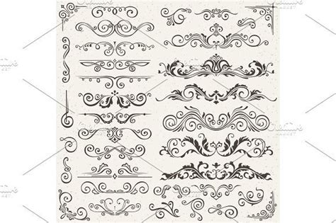 Flourish Border Corner and Frame Elements Collection