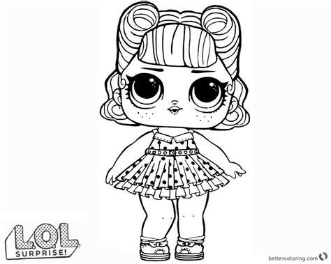 LOL Surprise Doll Coloring Pages Jitterbug Free