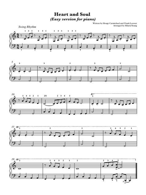 5 easy piano songs any beginner student can learn creative. 282458850-Heart-and-Soul-for-piano-beginners.pdf | Chanson de Rhythm And Blues | Chansons ...