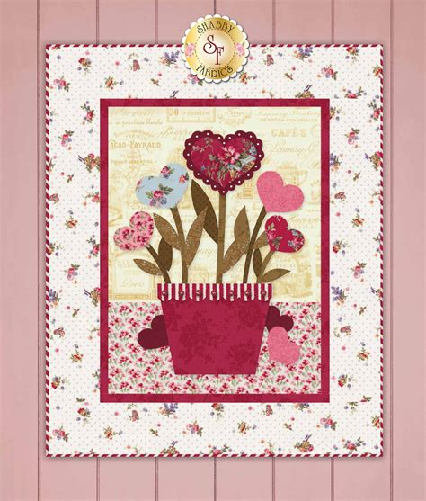 shabby fabrics wall hanging sweetheart bouquet wall hanging pattern