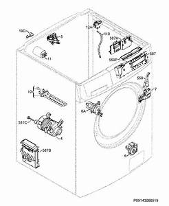 Zanussi Zkh7146j  91460434101  Washing Machine Electrical Equipment Spare Parts Diagram