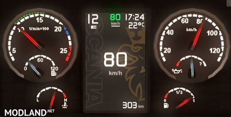 scania griffin custom dashboard  mod  ets