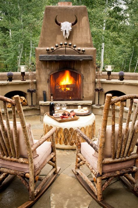 outdoor fireplace chairs rock on making a design statement with rustic rocking chairs