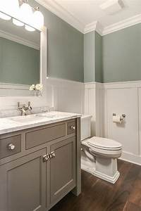 Tranquil bathroom design transitional bathroom for What kind of paint to use on kitchen cabinets for how to make bottle cap wall art