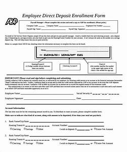 sample employee forms 11 download documents in pdf With direct deposit forms for employees template