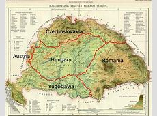 Great Hungary map Greater Hungary map Eastern Europe