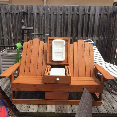 adirondack chairs  built  cooler