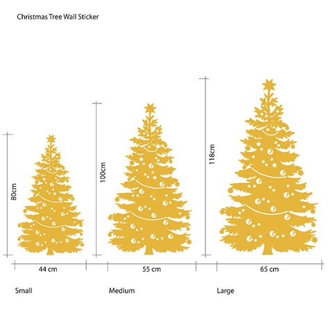 decorated christmas tree wall sticker by the bright blue