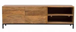Meuble Tv Manguier : meuble tv industriel manguier et m tal ypster meuble tv miliboo ventes pas ~ Teatrodelosmanantiales.com Idées de Décoration