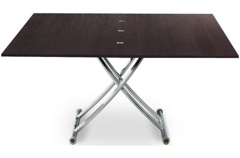 table basse relevable bois table basse bois wenge relevable 224 rallonge chorus design sur sofactory