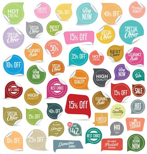 modern badges stickers  labels collection