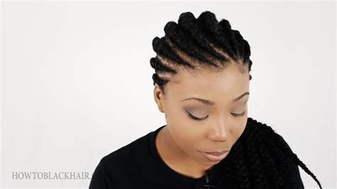 Ghana Braids / Invisible Cornrow Braids Hairstyle Tutorial