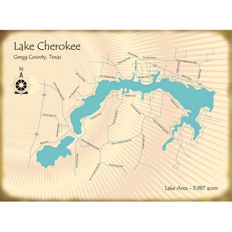 Lake Cherokee Texas Map