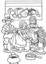 Thanksgiving Coloring Feast Printable Sheets Template Printables Happy sketch template