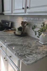 Grey marble countertop white wood cabinet ceramic vas for Kitchen colors with white cabinets with clip on candle holders