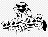 Coloring Squad Squirtle Pages Try Pngfind sketch template