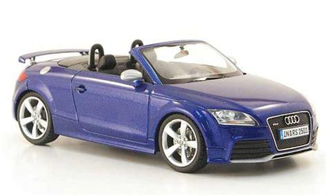 audi tt roadster miniature rs bleu  schuco