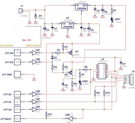 pic16f84a programmer circuit electronic circuit diagram
