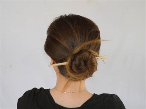 hairstyles with chopsticks fade haircut