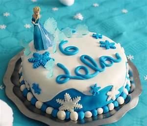 Gateau Anniversaire Reine Des Neiges : g teau d 39 anniversaire reine des neiges jouonsensemble ~ Melissatoandfro.com Idées de Décoration