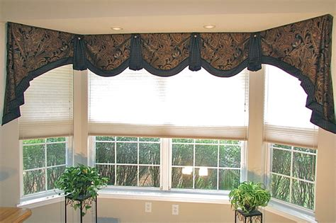 home office bay window valance transitional home