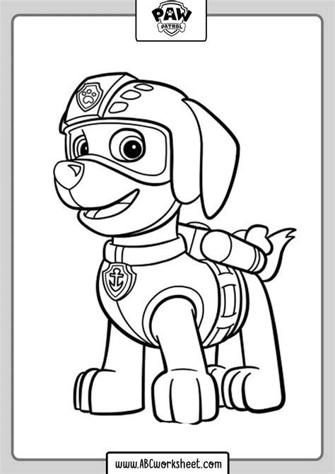 Printable Paw Patrol Drawings Coloring in 2020 Paw