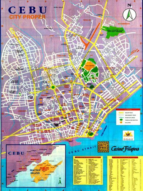 cebu map  cebu satellite image