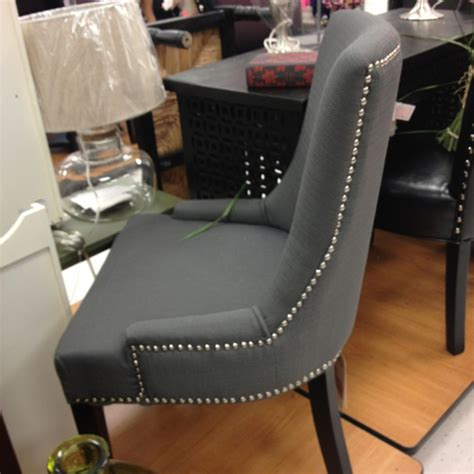 gray studded chair home office vanities