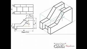 Engineering Drawing Tutorials  Isometric Drawing With Front