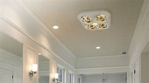 Bathroom ceiling heat lamps lighting and fans