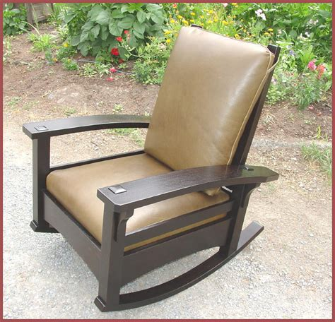 stickley morris rocking chair voorhees craftsman mission oak furniture bow arm